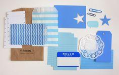 Blue Tag + Embellishment Kit Collection | iloveitall.etsy.com