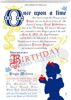 FAIRY TALE Birthday Party Invitation  Fairy Tale by andersruff, $18.00