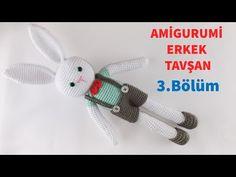 Amigurumi Örgü Erkek Tavşan Yapımı / Askılı Pantolon, Ayakkabı ve Papyon Yapılışı 3/3 (Gül Hanım) - YouTube