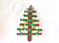 Craft Stick Christmas Tree Ornament Craft - Christmas Tree Ornament Crafts - Kaboose.com