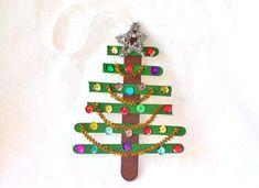 Craft Stick Christmas Tree Ornament Craft - Christmas Tree Ornament Crafts - Kaboose.com