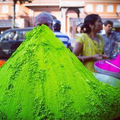 Preparing for Holi, the festival of colors, in Jaipur, India. Photo courtesy of tmingi on Instagram.