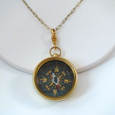 FashionJunkie4Life - Vintage Style Working Compass Necklace, $28.00 (http://www.fashionjunkie4life.com/vintage-style-working-compass-necklace/) Use coupon code PIN10 for 10% off your entire purchase and free shipping worldwide. #workingcompassnecklace