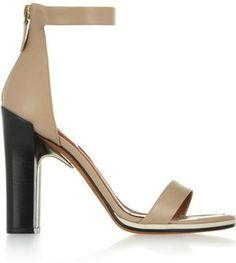Givenchy Ruby sandals with gold metal details in nude leather with contrasting black heels on shopstyle.com