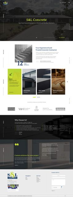 Never underestimate the underlying complexity on simple design, such as this one. Construction Website, Construction Design, Concrete Contractor, City Council, Crayons, Simple Designs, Web Design, Simple Drawings, Design Web