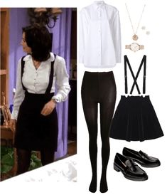 Perfect for a preppy office look. Discover outfit ideas for college made with the shoplook outfit maker. How to wear ideas for Rose Stamp Coin Necklace and watch Hipster Outfits, Retro Outfits, Cool Outfits, Casual Outfits, Hipster Clothing, Rachel Green Outfits, 90s Fashion, Fashion Outfits, 90s Inspired Outfits