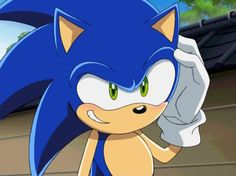 The first and only time we see Sonic the hedgehog actually blushing