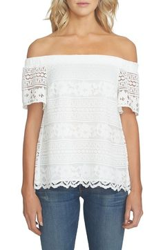 Main Image - 1.STATE Off the Shoulder Lace Blouse