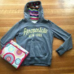 Aeropostale Hoodie Adorable hoodie with knit lining in hood. Aeropostale Tops Sweatshirts & Hoodies