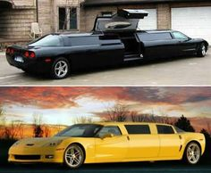 Limousine services, car manufacturers and individual designers are going the extra mile to stand out. Meet some of the craziest limousines out there. My Dream Car, Dream Cars, Chevrolet Corvette, Chevy, Wedding Limo Service, Automobile, Sweet Cars, My Ride, Hot Cars