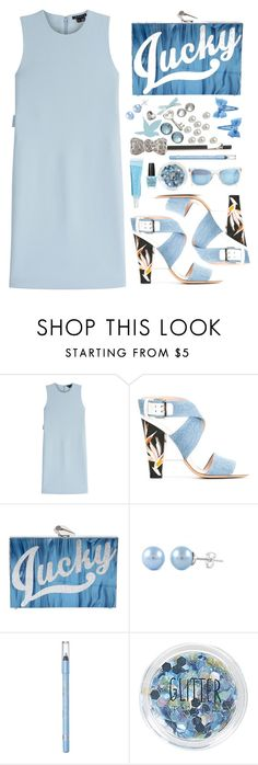 """""""Style #376"""" by simona-altobelli on Polyvore featuring Theory, Fendi, KOTUR, Rimmel, Topshop, Taylor Morris, monochrome, Blue and MyStyle"""