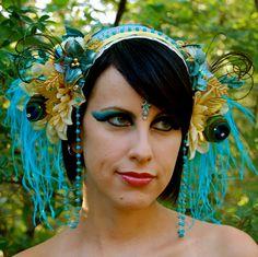 BUTTERFLY GODDESS Flower Headdress SALE by FeatherPixie on Etsy, $75.00