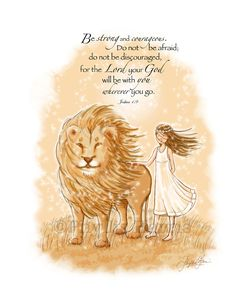 """This wall art print was inspired by C.S. Lewis' Chronicles of Narnia. I thought the Scripture, Joshua 1:9 went really well with it but it is offered with or without the text.NOTE: Most of my art is customizable! If you see a piece you love but it has the wrong hair color for your personal preference...PLEASE convo me and most likely I can accommodate you.This 8.5"""" x 11"""" print is made using archival inks and a wonderful archival museum quality fine art paper (both o..."""