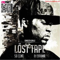"""I just turned 50Cent's """"The Lost Tape"""" artwork into Hip Hop's 1st, Interactive, Augmented Reality Mixtape Cover! - http://konniemack.com/post/23174752478/50-cent-the-lost-tape-mixtape#  (Printing the artwork is recommended)"""