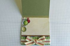 Splitcoaststampers - Matchbook Post-It Note Holder tutorial by Cindy Coutts