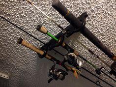 5 Fishing Rod Pole Reel Offshore Holder Garage Ceiling Wall Mount Rack Organizer | eBay