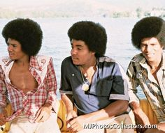 Michael, Tito and Jackie Jackson 1978 The Jackson Five, Jackson Family, Jackie Jackson, Photos Of Michael Jackson, Michael Jackson Bad Era, Afro Hair Baby, Familia Jackson, Berry Gordy, He Is My Everything