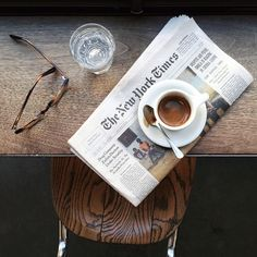 """I have measured out my life with coffee spoons"" and editions of the New York Times."