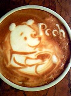 Pooh latte art