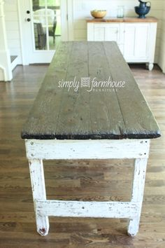 simply farmhouse. farm table. restoration