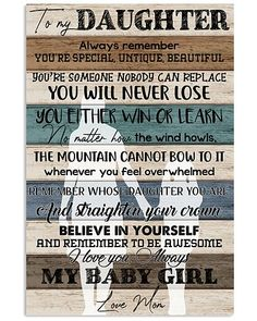 Shop for unique Mother apparel and homegoods on CoolFamilyTee. Find the perfect Mother t-shirts, mugs, posters, phone cases, and more. My Beautiful Daughter, Daughter Love, Daughters, My Children Quotes, Quotes For Kids, Mother Poems From Daughter, Best Quotes, Life Quotes, Family Tees