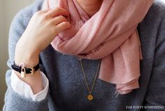 One can not live without the Balmuir Helsinki cashmere scarf. Featured in Fab forty something -blog. www.balmuir.com