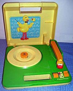 Big Bird record player!