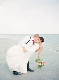 Tied the Knot: Vintage Nautical Beach Wedding - Michelle March Photography – South Florida / Miami Wedding Photographer – US + Destination Weddings