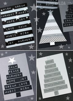Washi Tape Christmas Cards - Esmeralda's