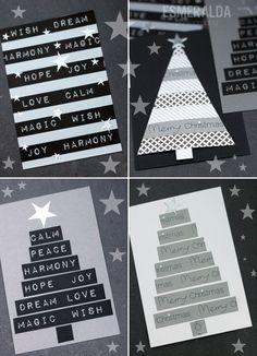 Washi Tape Christmas Cards - Esmeralda's