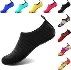 Amazon.com | VIFUUR Water Sports Shoes Barefoot Quick-Dry Aqua Yoga Socks Slip-on for Men Women Kids | Water Shoes Best Water Shoes, Water Sport Shoes, Water Shoes For Kids, Sports Shoes, Yoga Shoes, Women's Shoes, Shoes Style, Shoe Boots, Aqua Socks