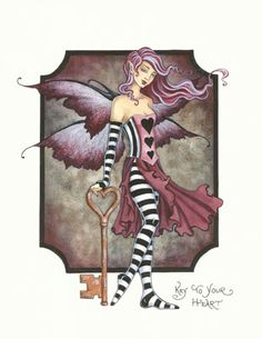 Key to Your Heart, by artist Amy Brown, an open edition print featuring a confident fairy.