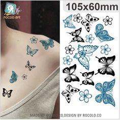 Iris de comercio exterior a prueba de agua pegatinas pegatinas para las mujeres etiquetas engomadas del tatuaje fresco juguetes pequeños