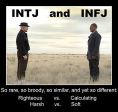 Sometime I would get these two mixed up.. But either way I learned this type is usually attracted to me but we just don't work out for multiple reasons. We can be decent friends, beyond that they lack alot of things that the (Infp/enfp) desires in intimate long term relationship