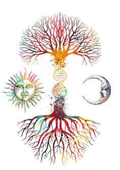 Tree Of Life Art, Tree Art, Dream Tattoos, Life Tattoos, Smal Tattoo, Dna Art, Geniale Tattoos, Summer Crafts For Kids, Anatomy Art
