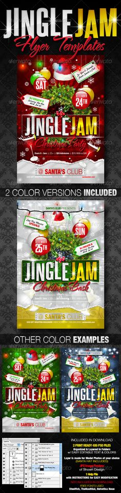 Summer Party Flyer Bundle Party flyer, Psd flyer templates and - holiday flyer template example 2