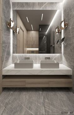 25 Modern Decor Everyone Should Have #bathroom #bathroommirror #bathroomlighting #lightedbathroommirror