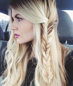 beachy wave and braid
