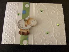 I like the use of the embossing folders on this card. Baby Shower Cards, Baby Cards, Sheep Cards, Easter Lamb, Homemade Greeting Cards, Wedding Card Templates, Card Tags, Kids Cards, Your Cards