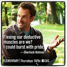 Sherlock Holmes ELementary hahahahahaha I hate this show, but this is funny