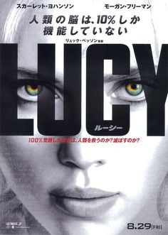 LUCY/ルーシー ・脳へのアクセスを100%に近づけるにつれてどのような能力が開発されているのか描かれている。