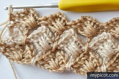 MyPicot is always looking for excellence and intends to be the most authentic, creative, and innovative advanced crochet laboratory in the world. Crochet Squares, Crochet Motif, Crochet Lace, Free Crochet, Crochet Stitches Patterns, Baby Knitting Patterns, Stitch Patterns, Chrochet, Crochet Projects