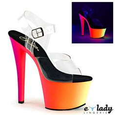 Pleaser #shoes #rainbow-308uv sandals stiletto high heels ankle #strap pole danci,  View more on the LINK: 	http://www.zeppy.io/product/gb/2/252419123338/