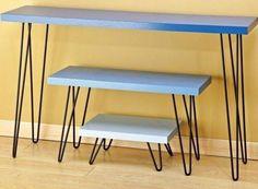 patas metal hairpin legs l=25 cm diseño mesa ratona pallets