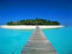 Dream vacation private island white sand and blue water❤