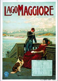 1906 Lago Maggiore, Orario 1 giugno 1906 Archivio Iconografico del Verbano Cusio Ossola Svizzera poster viaggio