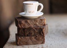 Coffee mocha handmade soaps  -   http://www.etsy.com/listing/128716034/coffee-mocha-soap-vegan-handmade-cold