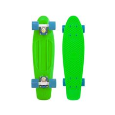 Penny Skateboard Original 22 Neon Green Wht Blue SKATEBOARD COMPLETE |... ❤ liked on Polyvore