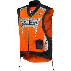 Save $ 10 order now Icon Interceptor Reflective Motorcycle Vest Orange at Best M