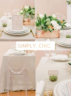 Simply Chic Wedding Decor--Apartment 34 | Wedding Wednesday: {A Whole New Way to Plan Your Big Day}